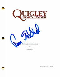 Tom Selleck Signed Autograph Quigley Down Under Full Movie Script - Magnum Pi