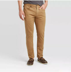 Goodfellow And Co Menand039s Slim Five Pocket Pants 32x30 Brown New Free Shipping