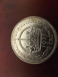 Crown 1937 Gem Unc Coin Very Rare Only 1 Contact Mark On Reverse
