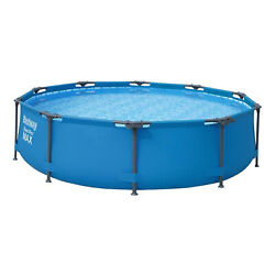 Bestway 10and039 X 30 Round Steel Pro Max Hard Side Family Swimming Pool Open Box