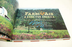 Neil Young Signed Autograph Farm Aid A Song For America Book - Csny Rare Acoa
