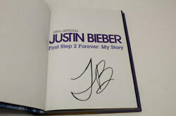Justin Bieber Signed Autograph First Step To Forever Book - Changes Purpose