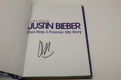 Justin Bieber Signed Autograph First Step 2 Forever My Story Book - Very Rare