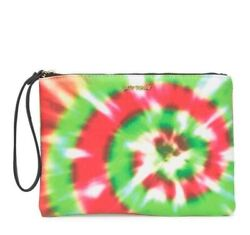 Betsey Johnson Wristlet Phone Pouch Tie Dye 2 Pc Set Holiday Motif Gift Nwt $31.10