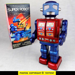 Super Robot With Lighted Eyes Guns Rotating Body Fly-open Doors Japan See Movie