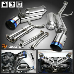 For 2003-2007 Infiniti G35 Coupe 2dr Dual Burnt Tip Catback Exhaust System