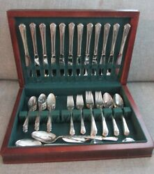 68 Pieces Holmes And Edwards International Silverplate Spring Garden Set With Box