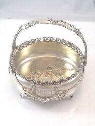 Naturalistic Pairpoint Nut Dish Basket Like Charter Oak Repousse Gold Wash