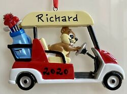 Name Personalized Ornament 2021 Golf Cart Dad Grandpa Player Christmas Tree Gift