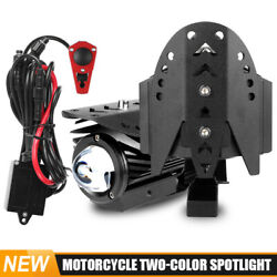 Large Motorcycle Auxiliary Led Headlight 60w Spot Light Hi/low Off Road Driving