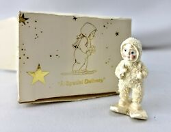 Dept. 56 Snowbabies Miniatures A Special Delivery Out Of Production In Box