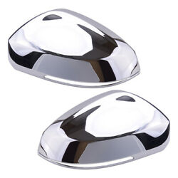2pc Silver Door Wing Rearview Mirror Cover Trim Fit For Vw Tiguan 2018-20