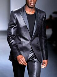 Men Pure Leather Suits Custom Size Send Us All Measurement Blazer And Pant
