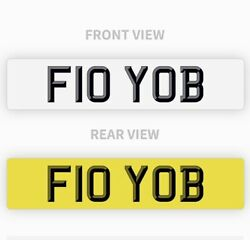 F10 Yob Private Number Plate Bmw M5 V10 Turbo Funny Short Rude Cool Fast Reg Bmw