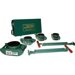 New Machinery Rollers 8 Ton Deluxe Nyton Riggers Kit Swivel Locking Pad