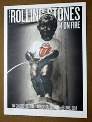 The Rolling Stones - 14 On Fire - Tw Classic Festival - Belgium - Tour Poster