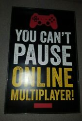 Gamer Posters/decor In Hanging Glass Frame Set Of 4 Measures 17 X 11 X 0.5