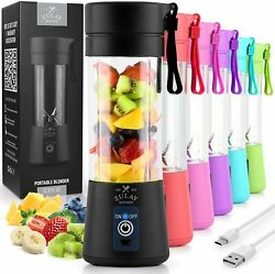 Portable Blenders Shakes Smoothies USB Rechargeable Small For Travel Powerful $29.99