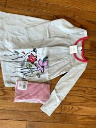 Nwt Tea Collection Dress And Matching Leggings, Size 3t