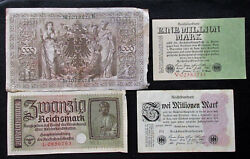 Set Of 8 Old Germany Paper Money Mixed Lot Ww2ww1