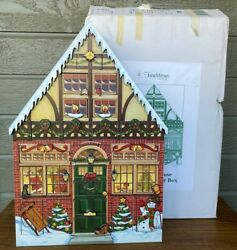 Vintage Byers Choice Traditions Christmas House Advent Calendar Large 22 W/ Box