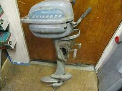 Evinrude 2 Cycle One Cylinder Boat Motor Model Rx4423-34242 For Parts Or Repair