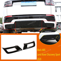 Black Abs Exhaust Muffler Tail Pipe Cover Fit For Land Rover Discovery Sport2020