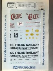 Train Decals Chief, Chessie, Nyc, Southern Railway 87-308 Micro Ho Scale