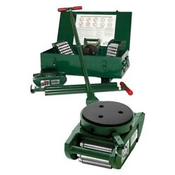 New Machinery Rollers 15 Ton Ft Deluxe Riggers Kit 4 Pad Swivels Krs-15-slp