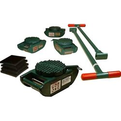 New Machinery Rollers 15 Ton Ft Riggers Kit 4 Diamond Swivels Rs-15-sld
