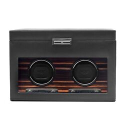 Wolf Roadster 457256 - Automatic Double Watch Winder - Storage And Travel Cas...