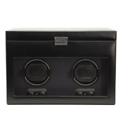 Wolf Heritage 270402 - Double Watch Winder With Tempered Glass Cover - Black ...