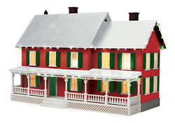 Mth 30-90588 4 Country House W/operating Christmas Lights