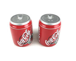 Coca-cola Set Of 2 Coke Cans Salt And Pepper Shakers 4and039and039 Porcelain Figures