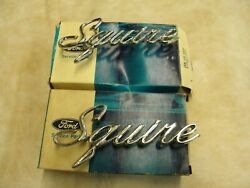 Nos Oem Ford 1969 1970 Galaxie Ltd Country Squire Station Wagon Emblems Scripts