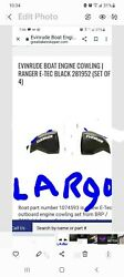 New Evinrude 150 Hp Brp G2 Engine Cowlings With Largo Blue Accent Decals