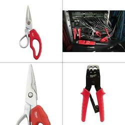 Electrician Snips And Impacting Punchdown Tool And Ratcheting Modular Crimper
