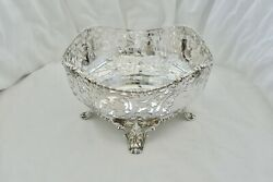 Rare George V Hm Sterling Silver 4 Footed Pierced Fruit Bowl1922