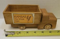 Kansas The Wheat State Vintage Toy Truck Wooden Prop Under Christmas Tree Decor