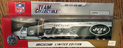 2002 Nfl New York Jets 180 Scale Diecast Tractor Trailer. New In Box.