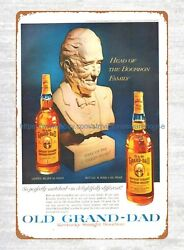 1960 Old Grand-dad Whiskey Ads Tin Sign Garage Wall Decorating Ideas