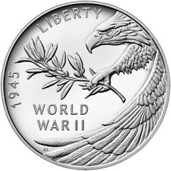 End Of World War Ii 2 75th Anniversary American Eagle Silver Proof Coin