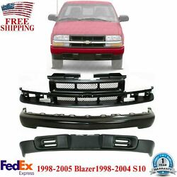Front Bumper Primed Valance And Grill For 1998-2005 Blazer /1998-2004 S10 Pickup