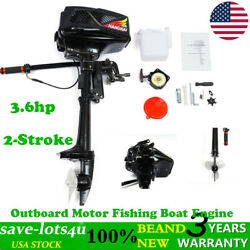 2stroke 3.6hp Outboard Motor Fishing Kayak Boat Engine Water Cooling 55cc