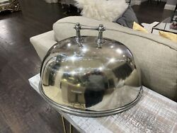 Huge Oval Food Meat Dome Cover Cloche Sterling Silver 925+ Argent 64 Ounces
