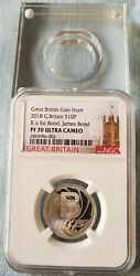 2018 Great British Coin Hunt B Is For Bond 10p Sterling Silver Ngc Pf70 Uc Rare