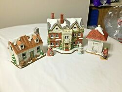 Christmas Colonial Village By Lefton-the Hermitage-collectors Set