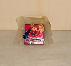Quake Cereal Character Mint Vintage Pin Back Television