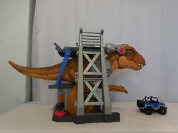 Imaginext Rex Dinosaur Play Set With Iconic Jurassic World Multicolor + Car