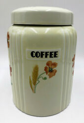 Hall China Wild Poppy Or Poppy And Wheat Canisters - Matched Set Of 4 970j